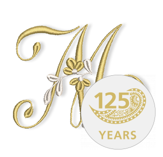 Golden Floral Alphabet Letter M