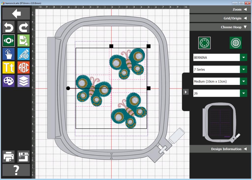 Toolbox Rahmenauswahl