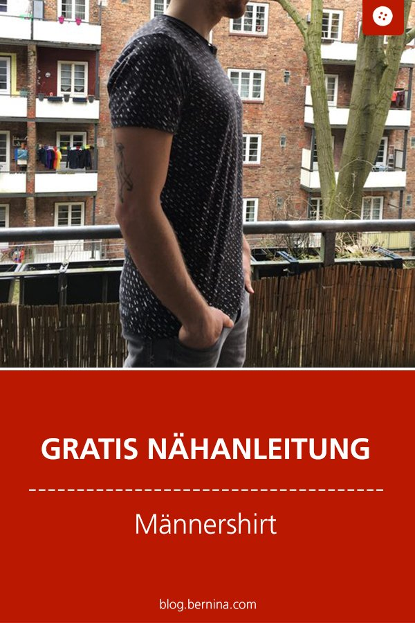 Gratis Schnittmuster mit Nähanleitung: Männershirt nähen