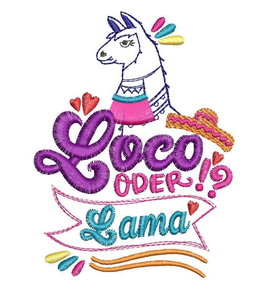 Loco Lama Freebie Stickdatei