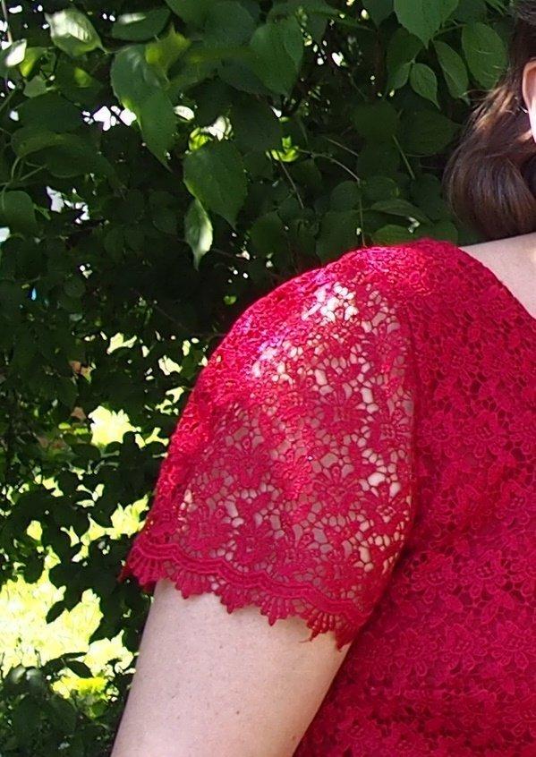 Kleid aus Spitze nähen