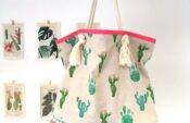 Kaktus-Strandtasche