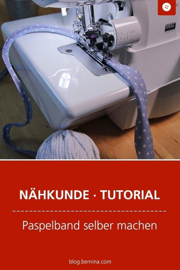 Nähkunde / Tutorials: Paspelband selber machen Freebie #paspelband #paspel #overlock  #nähen  #tutorial #nähanleitung #diy #bernina