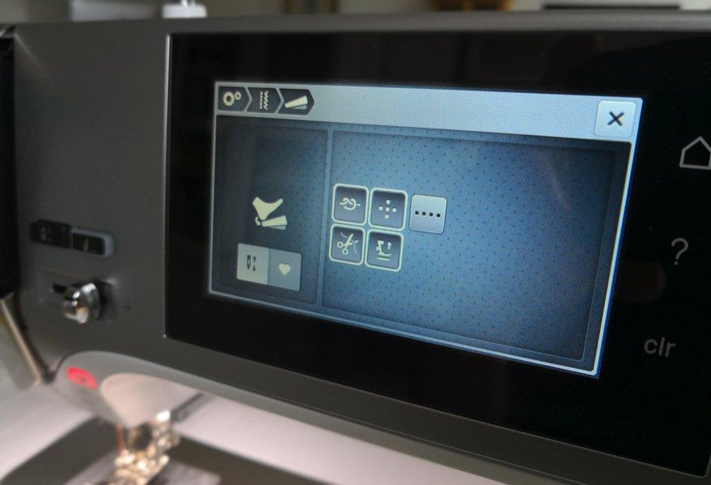 Bernina 570 QE 2018 Fußanlasser programmieren