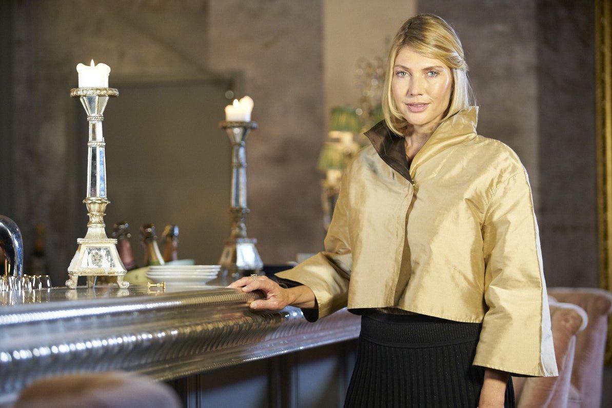 Goldene Jacke für Cocktaildress: Kostenlose Anleitung inklusive ...