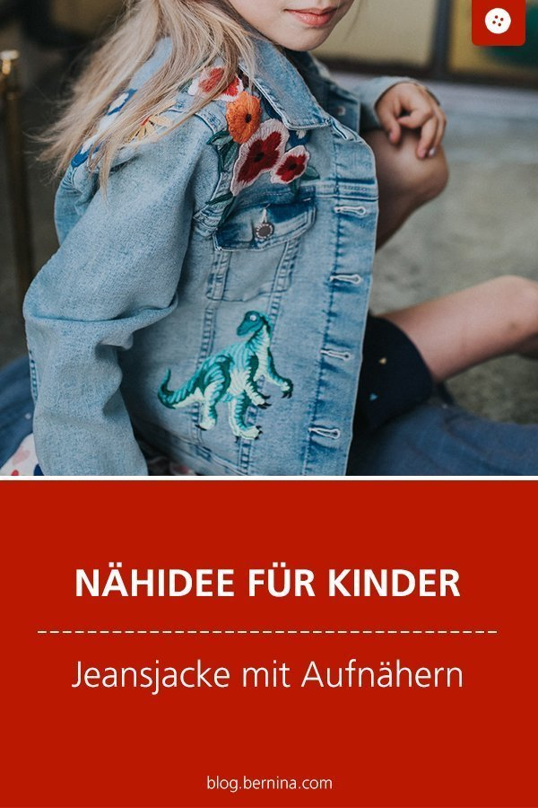 Nähkunde / Tutorials: Jeansjacke mit Patches aufpeppen #upcycling #jeansjacke #patches #nähenfürkinder #aufnäher #nähen #tutorial #nähanleitung #diy #bernina