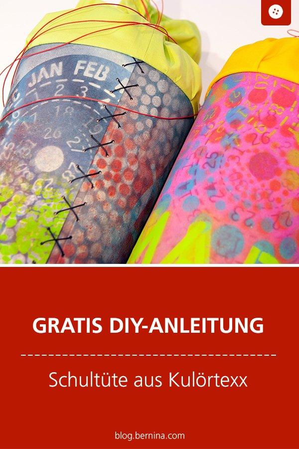 Kostenlose DIY-Anleitung: Schultüten aus Kulörtexx