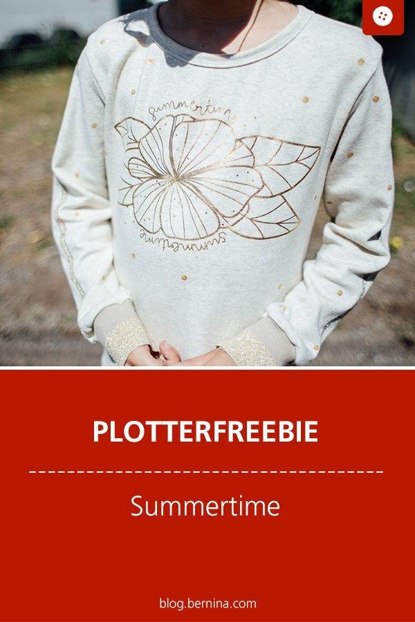 """Goldener Pullover mit """"Summertime"""" Plotterfreebie und Fransenlook DIY"""