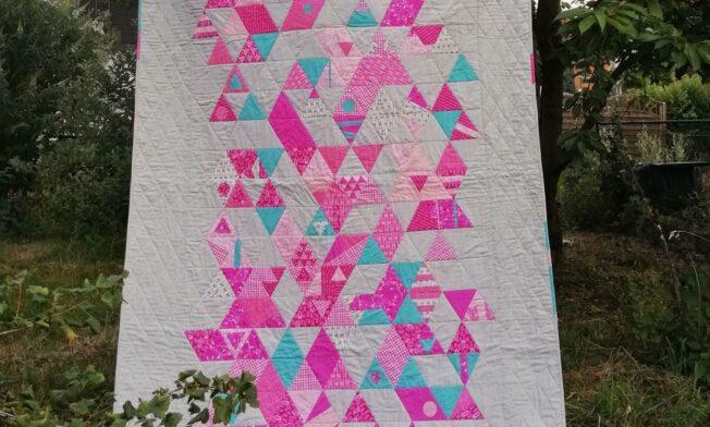 triangle quilt fertig