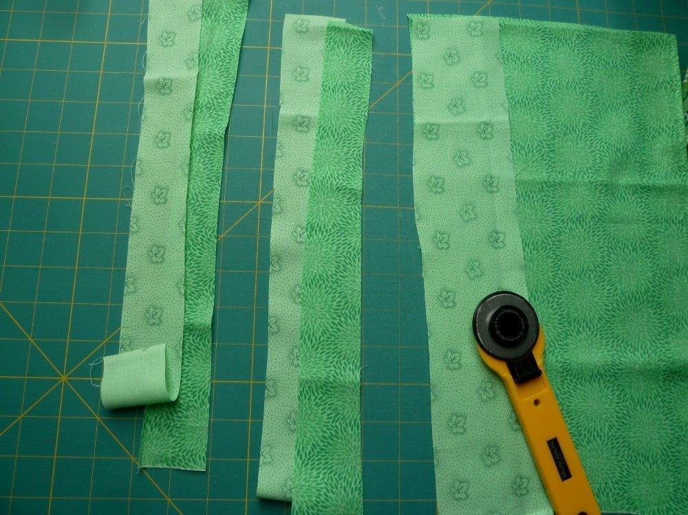 Freies Zuschneiden von Streifen ohne Lineal