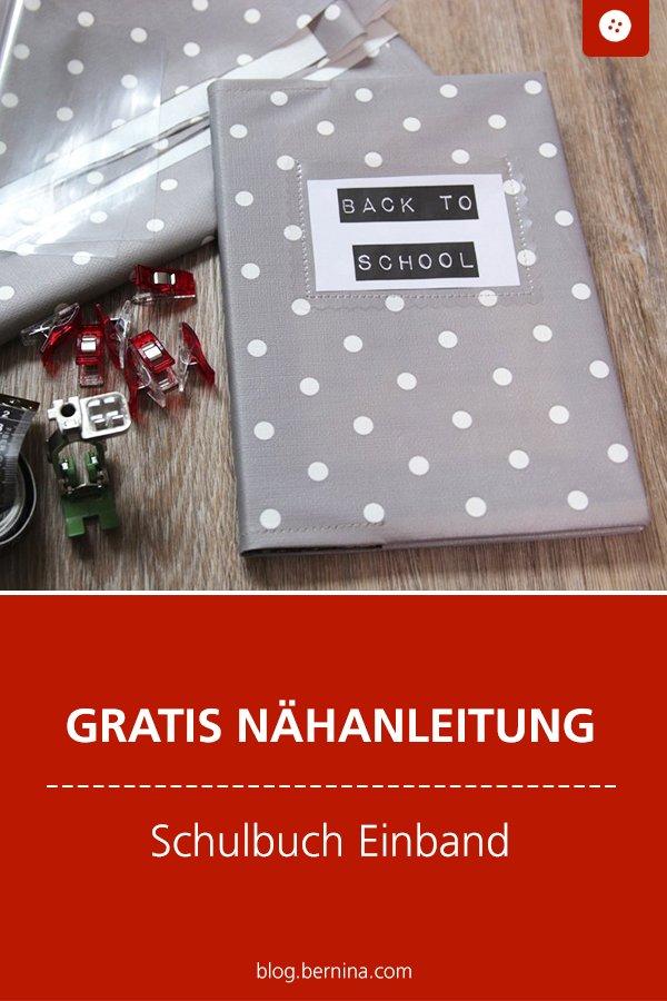 Kostenlose Nähanleitung: Schulbuch-Einband aus Wachstuch