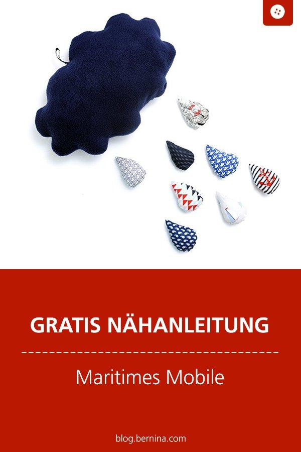 Kostenlose Nähanleitung: Maritimes Mobile nähen