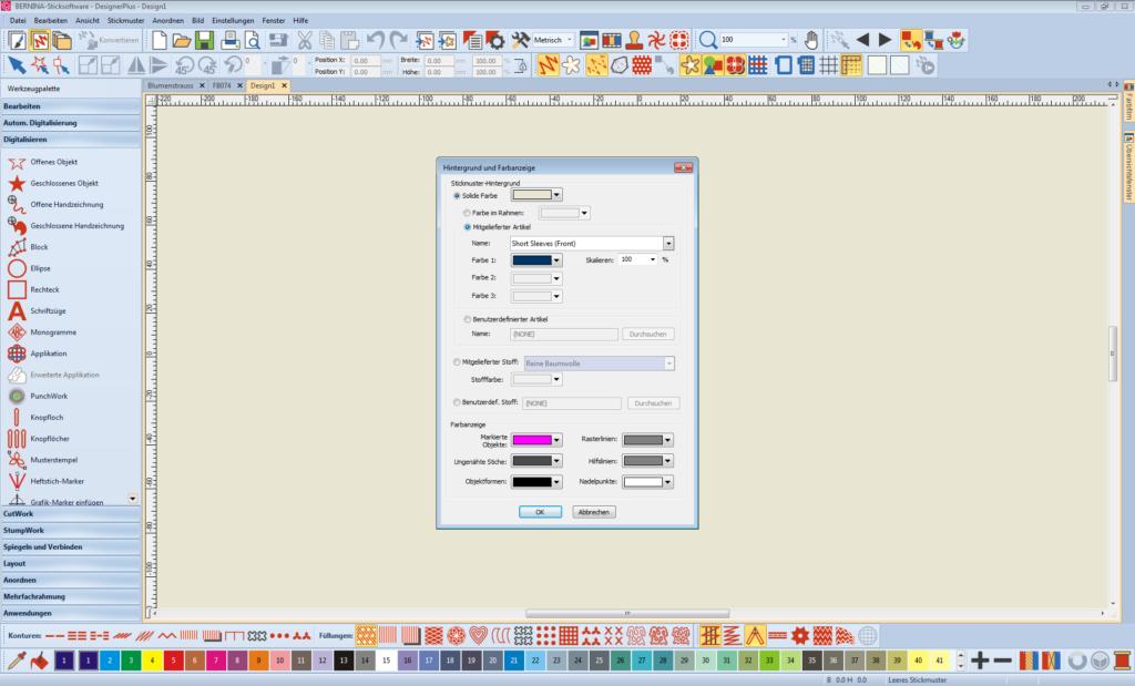 Sticksoftware Auswahl Hintergrund