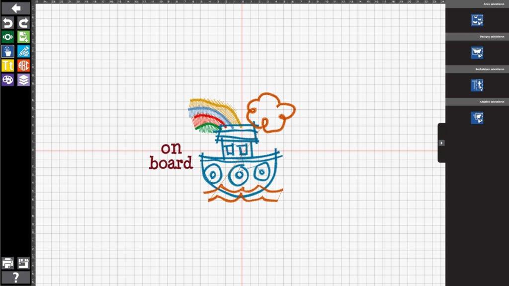 Maritime Babygeschenke – Besticktes Utensilo Toolbox – Teil 6