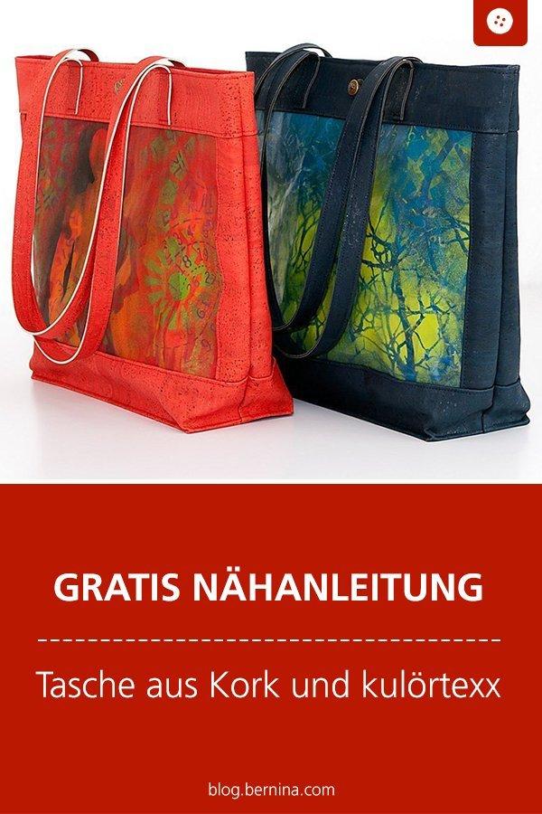 Kostenlose Nähanleitung: Handtasche aus Korkleder und kulörtexx
