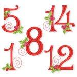 Stickmuster-Freebies zu Weihnachten und Advent