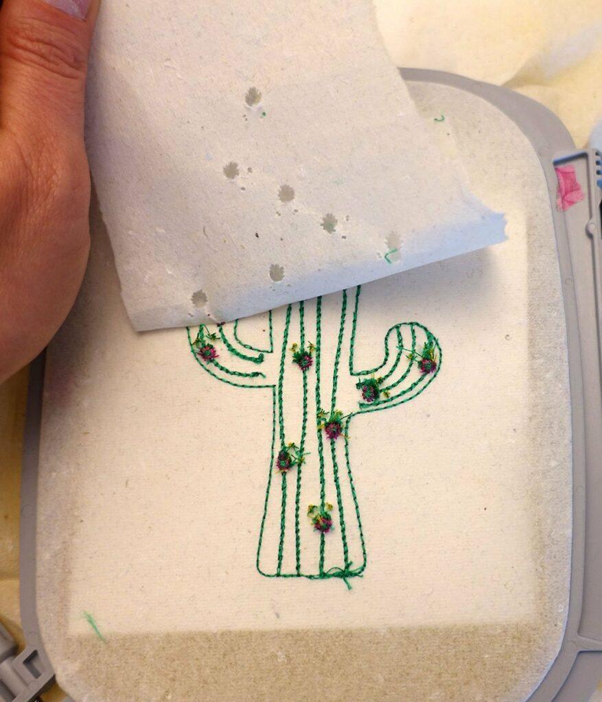 Kaktus Schlüsselanhänger ITH sticken