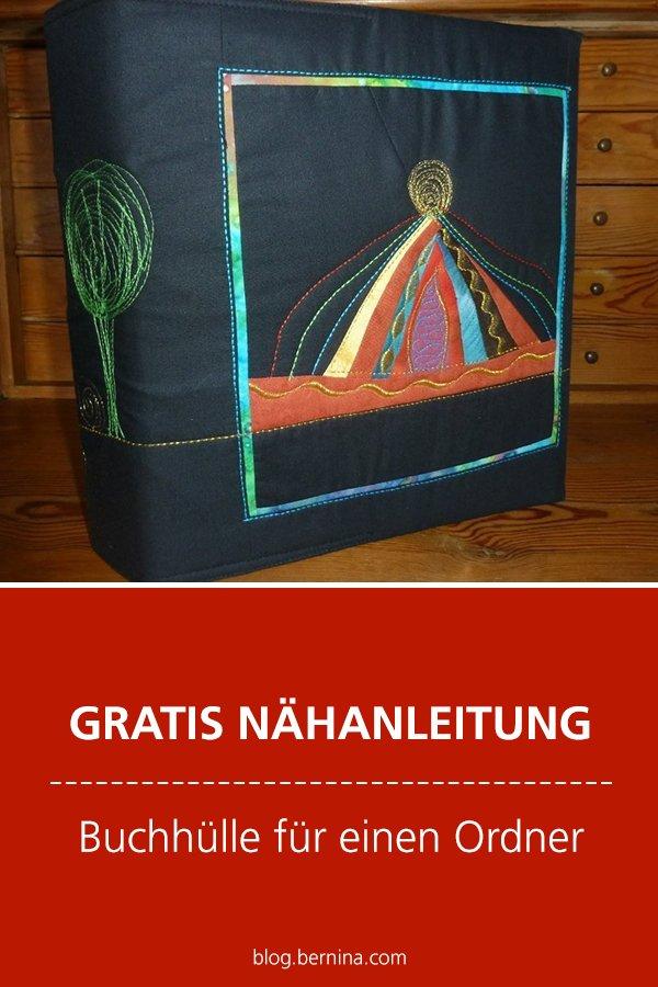Kostenlose Nähanleitung: Buchhülle für einen Ordner