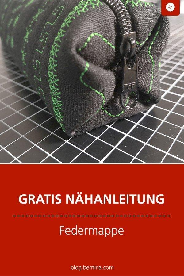 Kostenlose Nähanleitung : Federmappe mit Origami-Falte #anleitung #mappe #federmappe #tasche #etui #stifte #geschenk #nähen #bernina #nähanleitung #diy #tutorial #freebie #freebook #kostenlos