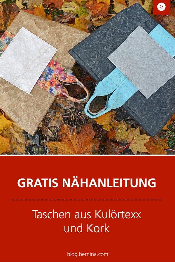Kostenlose Nähanleitung: Handtasche aus Kulörtexx & Korkleder nähen