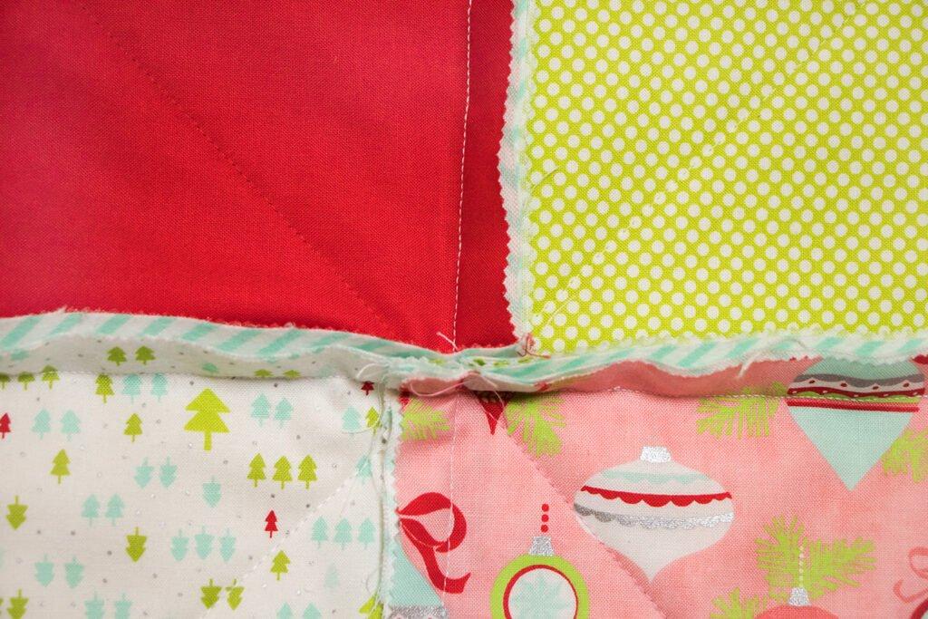 Rag Quilt Detail Nahtzugaben
