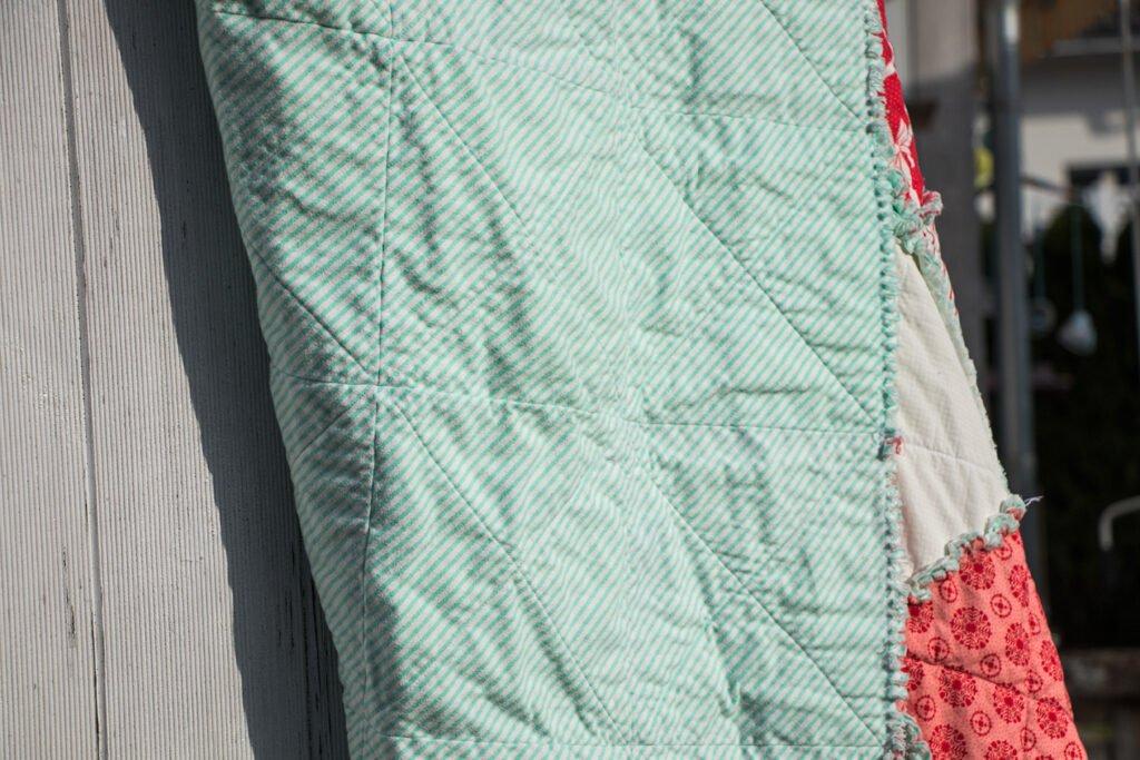 Rückseite Rag Quilt