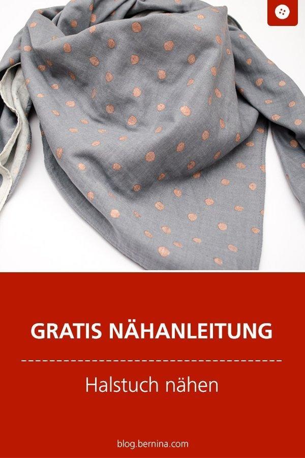 Kostenloses Schnittmuster mit Nähanleitung für ein Halstuch #baby #kind #frauen #tuch #halstuch #nähen #bernina #nähanleitung #diy #tutorial #freebie #freebook #kostenlos #dreieckstuch #schal