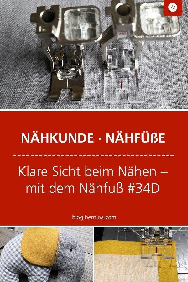 Klare Sicht beim Nähen – mit Nähfuß #34D #naehfuss #patchwork #naehtipps #nähen #bernina #tutorial #anleitung