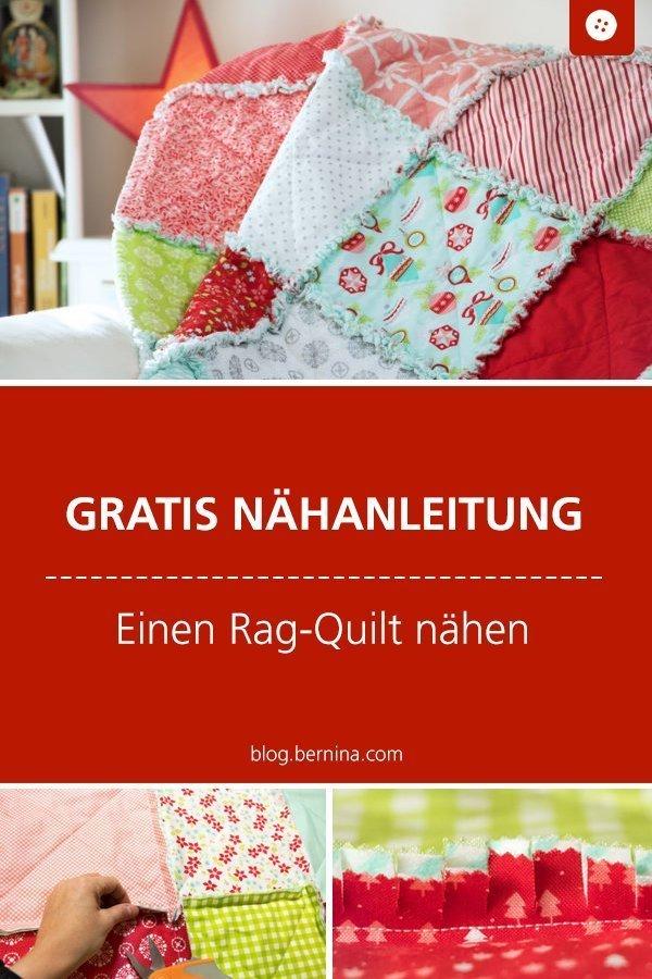 Kostenlose Nähanleitung für einen Rag-Quilt
