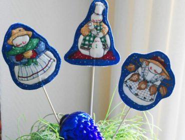 Anleitung: Weihnachtliche Pflanzenschilder nähen