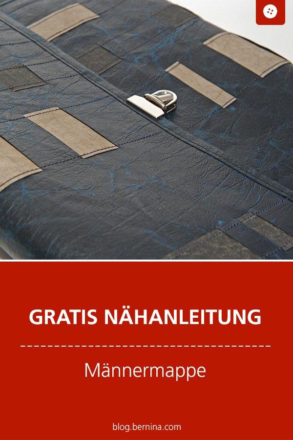 Kostenlose Nähanleitung: Mappe / Tasche für Männer nähen