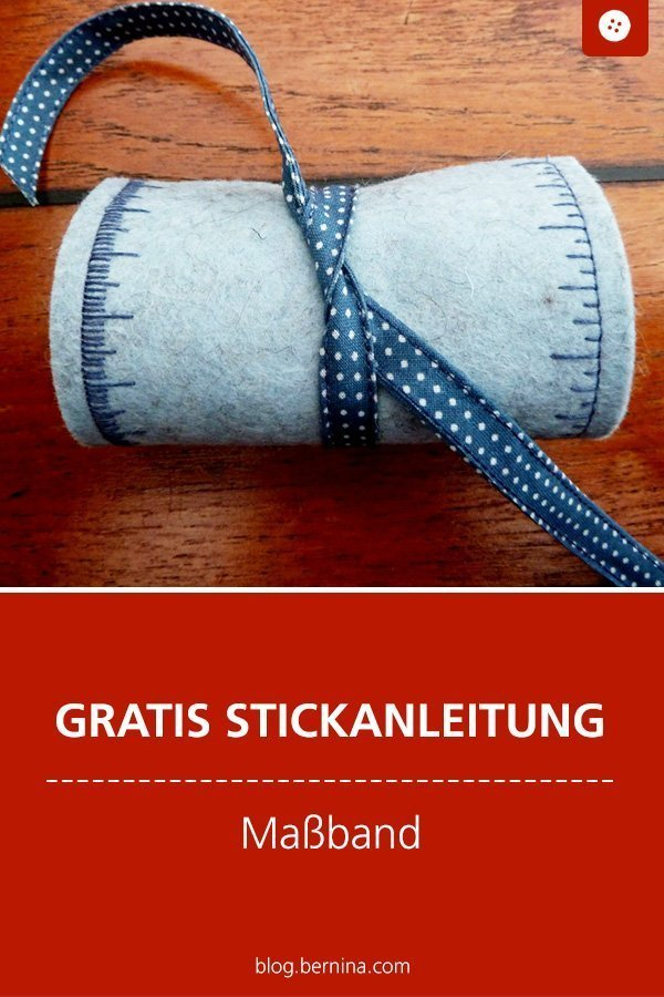 Kostenlose Stickanleitung : Maßband selber nähen #anleitung #maßband #nähzubehör #sticken #stickvorlage #stickmuster #bernina #stickvorlage #diy #tutorial #freebie #freebook #kostenlos