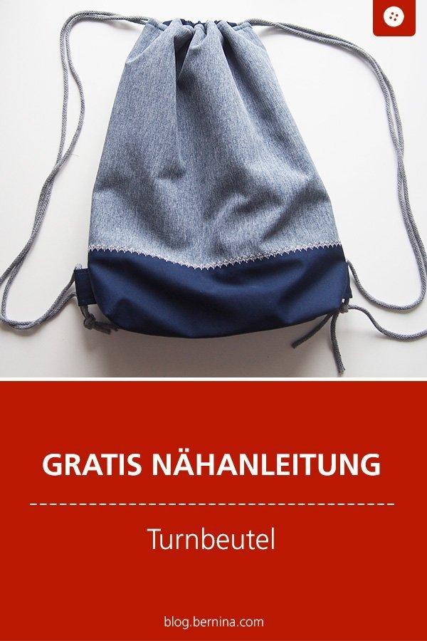 Kostenlose Nähanleitung: Turnbeutel #nähen #nähanleitung #nähenmachtglücklich #turnbeutel #bernina #diy #tutorial #freebie #freebook #kostenlos