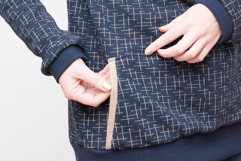 Schmalkantfuß – Tasche aufnähen