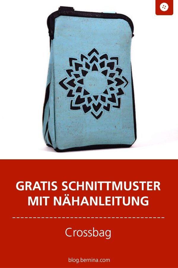 Kostenloses Schnittmuster mit Nähanleitung für eine Tasche aus Kork #schnittmuster #nähen #handtasche #taschennähen #kork #bernina #nähanleitung #diy #tutorial #freebie #freebook #kostenlos