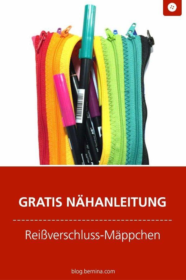 Kostenlose Nähanleitung : Reißverschluss-Mäppchen nähen #nähen #nähanleitung #nähenmachtglücklich #reißverschluss #bernina #nähanleitung #diy #tutorial #freebie #freebook #kostenlos