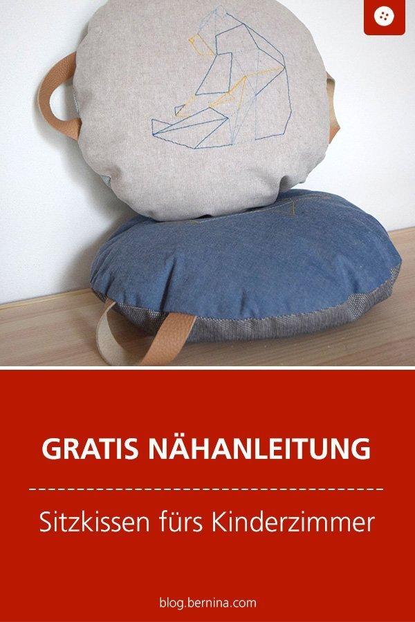 Kostenlose Nähanleitung : Sitzkissen fürs Kinderzimmer #nähen #nähanleitung #nähenmachtglücklich #sitzkissen #nähenfürkinder #bernina #nähanleitung #diy #tutorial #freebie #freebook #kostenlos