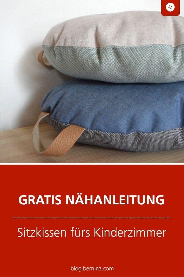 Kostenlose Nähanleitung : Sitzkissen fürs Kinderzimmer #nähen ...
