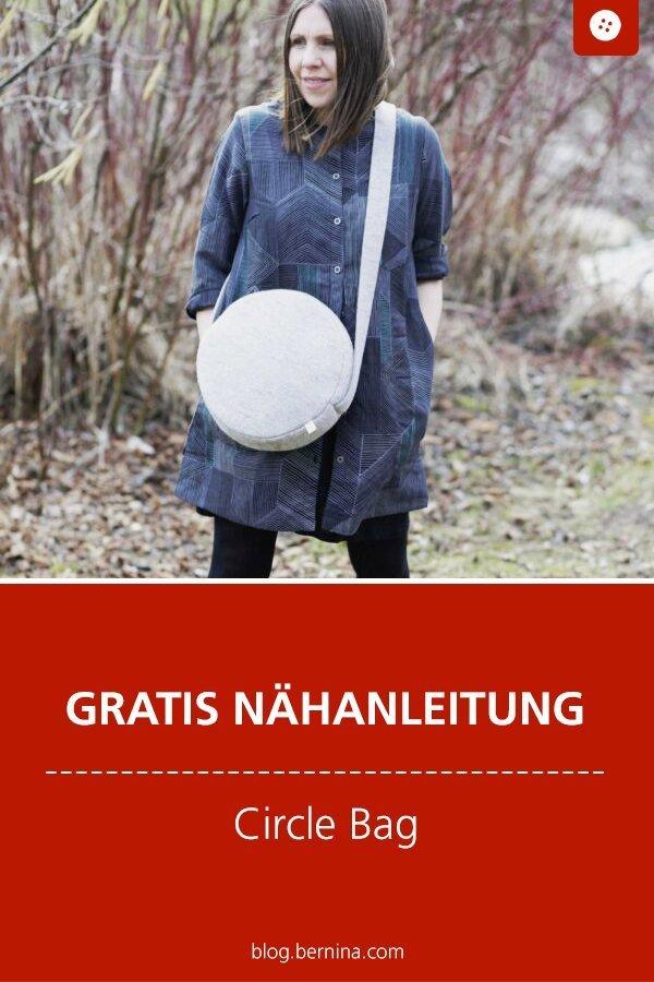 Kostenlose Nähanleitung : Circle Bag #nähen #nähanleitung #nähenmachtglücklich #taschenähen #bernina #diy #tutorial #freebie #freebook #kostenlos #nähenfürmich