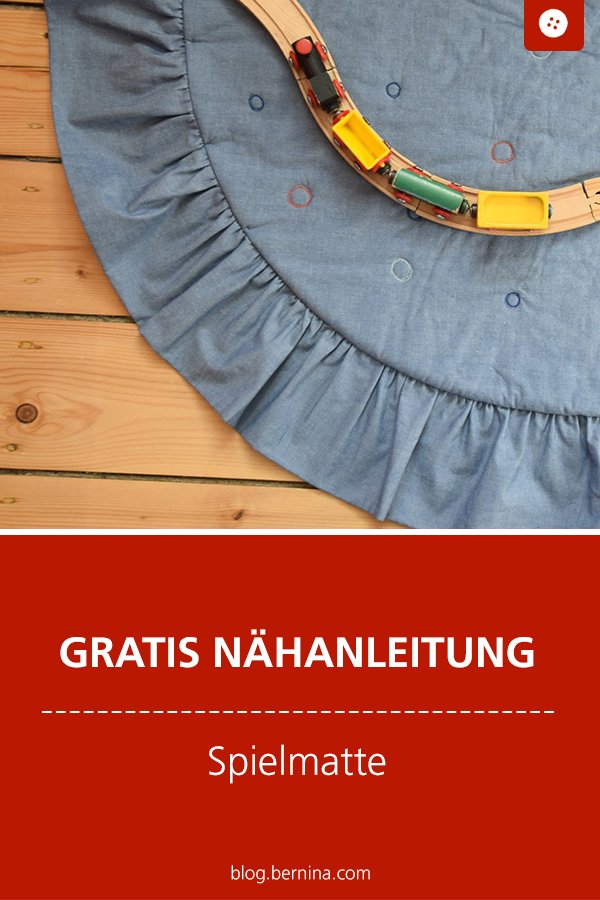 Kostenlose Nähanleitung: Spielmatte für Kinder nähen