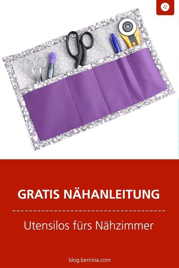 Kostenlose Nähanleitung: Utensilos fürs Nähzimmer #nähen #nähanleitung #nähenmachtglücklich #nähenfürmich #utensilo #bernina #diy #tutorial #freebie #freebook #kostenlos