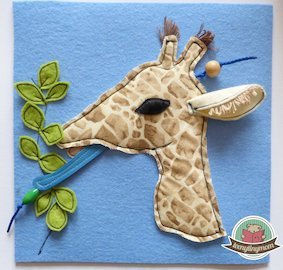 Giraffe Quiet book