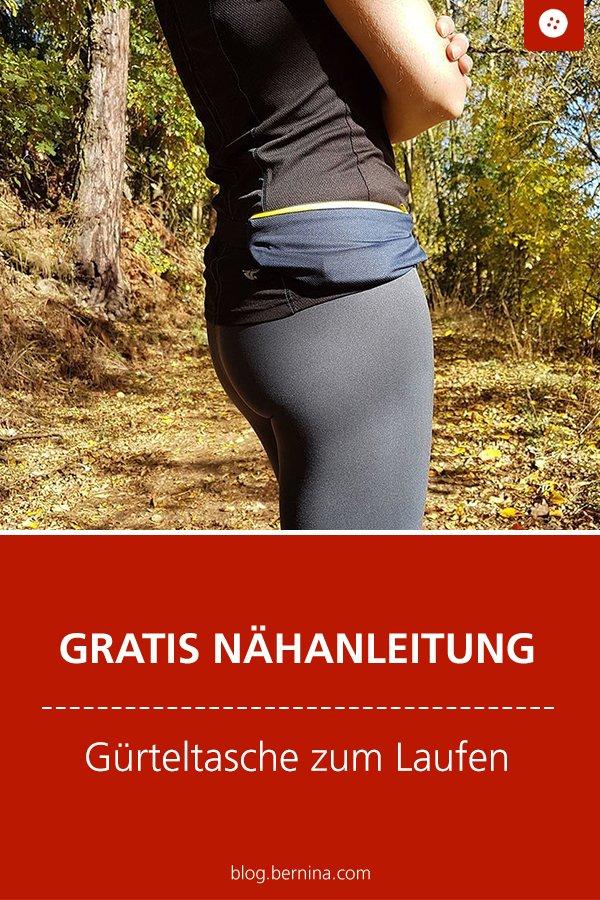 Kostenlose Nähanleitung: Gürteltasche / Bauchtasche zum Laufen