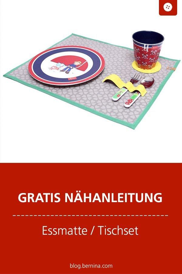 Kostenlose Nähanleitung: Tischset / Essmatte