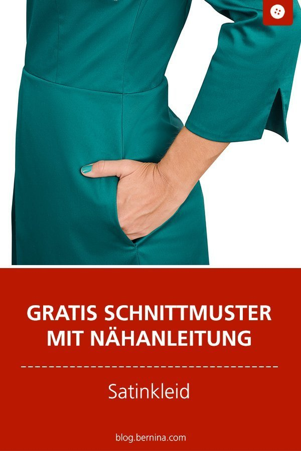 Gratis Schnittmuster mit Nähanleitung: Satinkleid