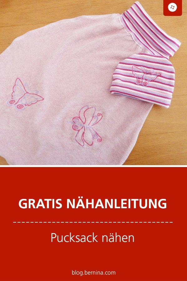 Gratis Schnittmuster mit Nähanleitung: Pucksack fürs Baby nähen