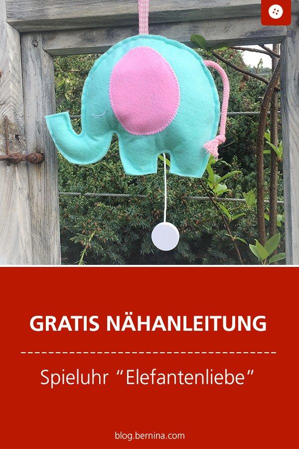 Gratis Schnittmuster mit Nähanleitung: Mobile Elefantenliebe fürs Baby
