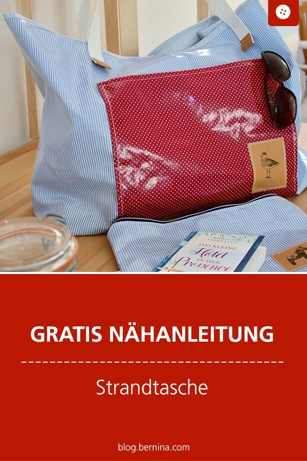 Kostenlose Nähanleitung: Strandtasche aus Wachstuch nähen