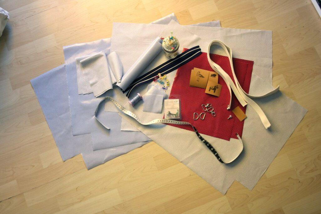 Materialbedarf für eine Strandtasche aus Wachstuch