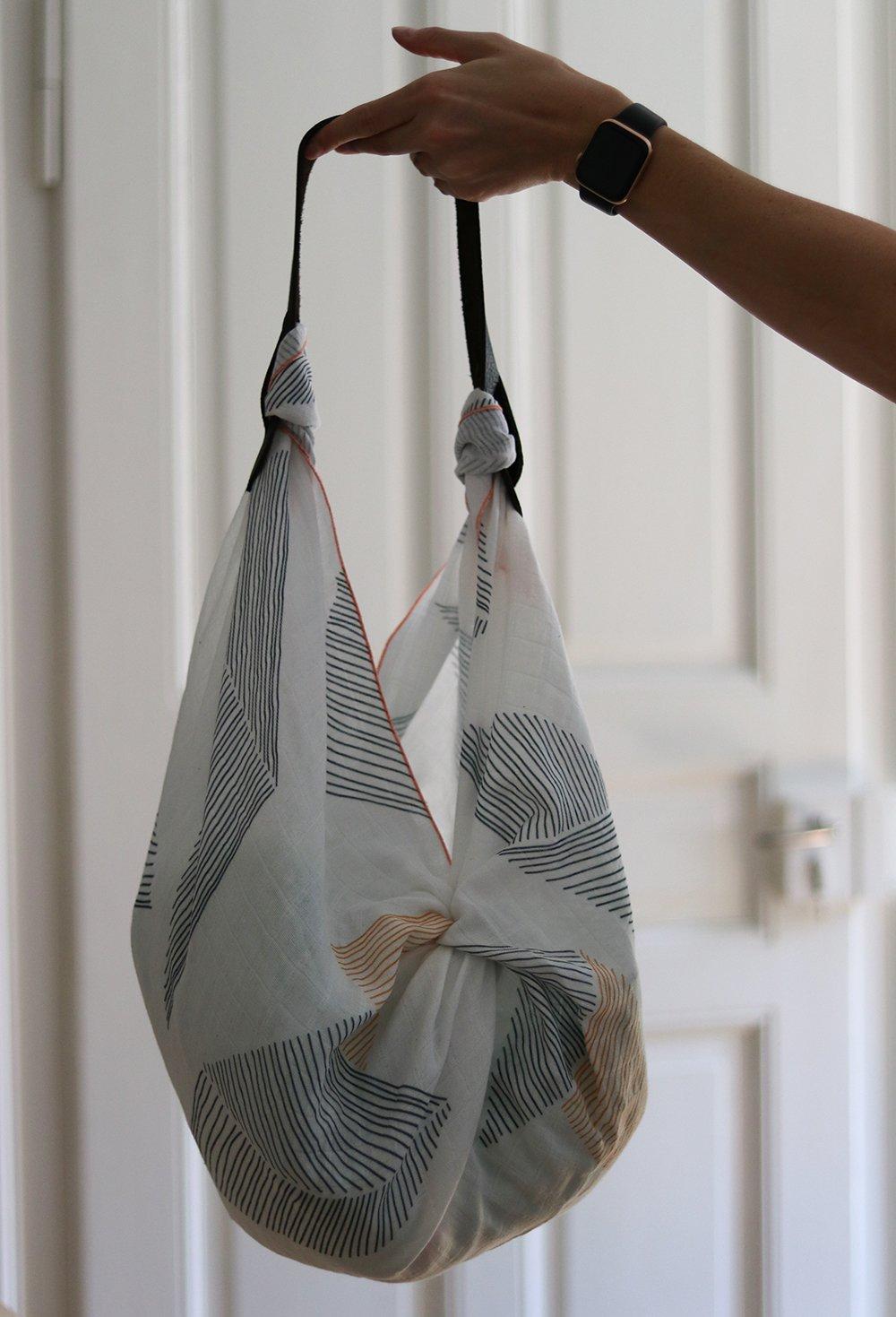 Furoshiki-Tuch als Tasche